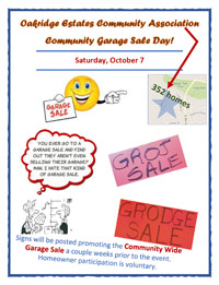 Flyer for Community Garage Sale 2017