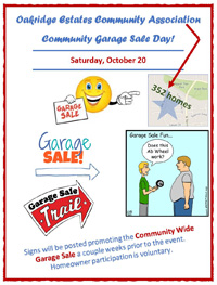 Flyer for Community Garage Sale 2018