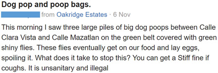 Nextdoor Post from 6 Nov 2016