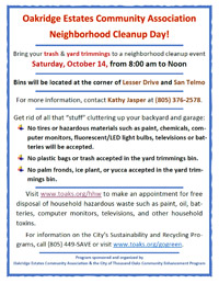 Flyer for Neighborhood Cleanup 2017